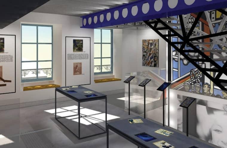 Future musée Fernand Léger - perspective d'architecte, vue du rez-de-chaussée