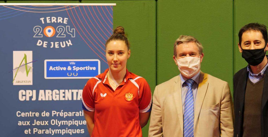 Ekaterina Guseva, première sportive russe à venir s'entrainer à Argentan.