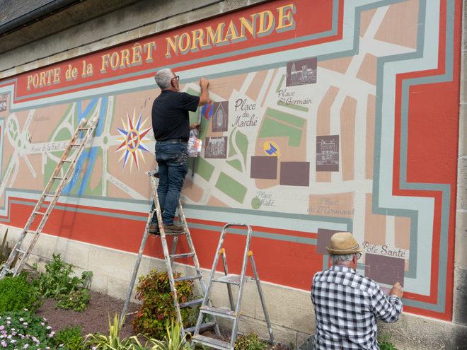 """Nouvelle Fresque """"Porte de la Forêt Normande"""""""